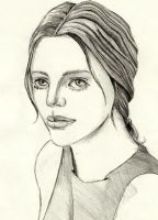 Sketch of woman by CroutonSevant