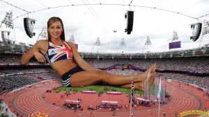 Giantess Jessica Ennis Olympics by lowerrider