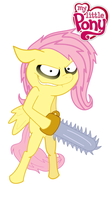 Fluttershy's Fighting Pose (Colored Vector) by trickguyshy