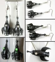 Retro Rocket Earrings by NeverlandJewelry