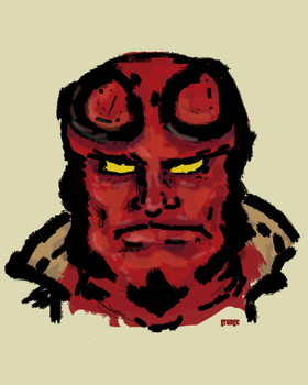 Hellboy by grunchyrole