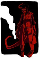 Hellboy's Daughter by LittleRedMinet