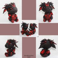 Black and Red Dragon 2 by BittyBiteyOnes