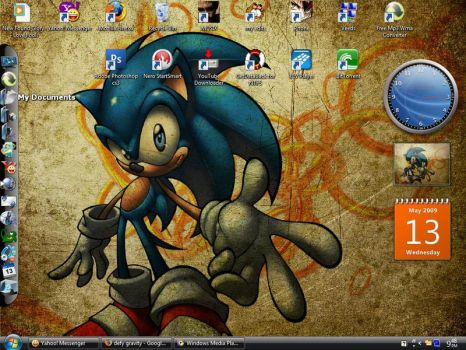 My Sonic Vista Desktop by alekzis