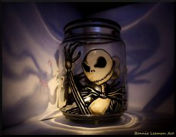 Jack Skellington Candle Holder by Bonniemarie