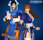 SF X DOA: Chun-Li and Kasumi by ShadowNinjaMaster