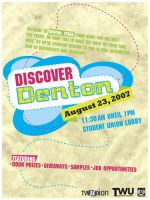 Discover Denton poster by WildeMoon