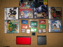 All of my pokemon games by blackout17