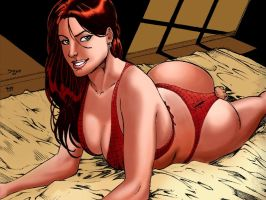 Mary Jane in Hotel_colors by Troianocomics