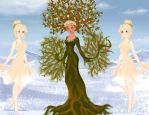 Dryad and Sprites by M-Mannering