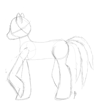 Side Sketch Model of a Pony by jonnydash