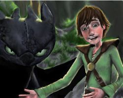 Hiccup Introduces Toothless by HeroicPlights