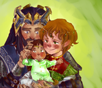 King, Consort and Prince by closetshipping