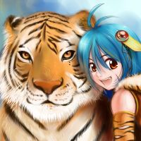 Tiger and Nian by sinoaXu