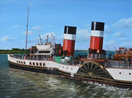 The Paddle Steamer Waverley by huckerback6