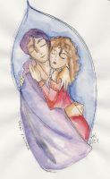 Daine and Numair by happineff