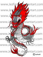 Oriental Tattoo Dragon DONE by Jezzy-Fezzy