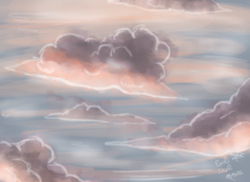 Speed painting sunset clouds by Evoli-niceli