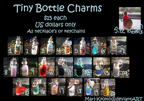 Tiny Bottle Charms - Done by Mari-Kyomo