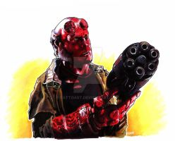hellboy by EatToast