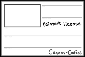 PNG Painter's License Template by Canvas-Cutie