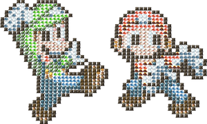Maplestory Monsters Love Mario and Luigi by GameBoy224