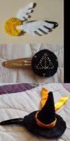 Harry Potter hair slides by x-ama