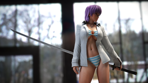 Ayane With Katana by Chrissy-Tee