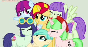 Sunset's new friends by Imtailsthefoxfan