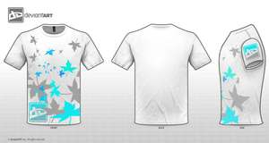 white t-shirt leaves edited by silverkaseyplatinum