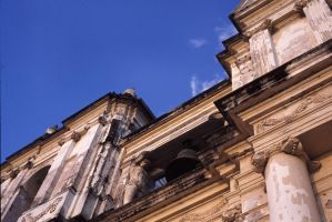 Looking up to blue and church by hellosarajevo