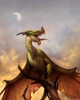 Wyvern at Dusk by KatePfeilschiefter