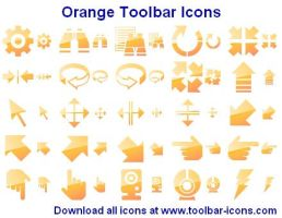 Orange Toolbar Icons by shockvideoee