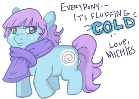 Fluffing Cold by michielynn