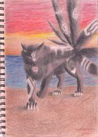 aniu demon wolf battle within2 by RobinAstarion
