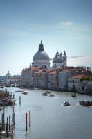 View to the Basilica di Santa Maria della Salute by sunflower983