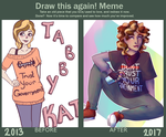 Draw This Again: Tabby Kat by meerodi