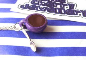 Purple Cup Necklace by tyney123