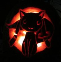 Kyuubey Pumpkin Carving by Soynuts