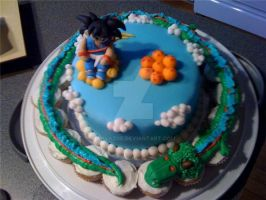 Dragonball cake by AnyaZoe