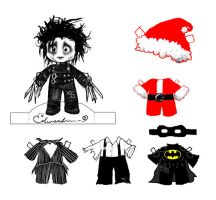 Edward Paper Doll by willdrawforfood