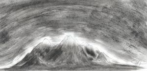 Charcoal Mountains by The-Intelligentleman