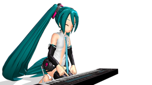 MMD - Miku Append and her synth by emmystar