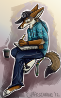 College Coyote by ChaosCanine