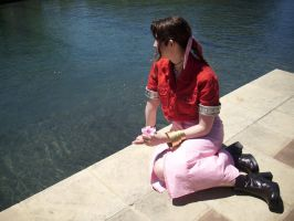 Aerith - Reflection in Water by MandyNeko