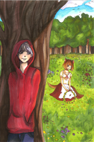 Red Riding Hoodie And The Shewolf by columbus1999