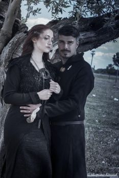 Lady Sansa and Lord Baelish by elirere