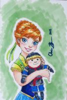 Anna Sketch Card by SleepyNoodleDoodles