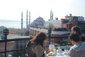 Roof view to The Blue Mosque by r3code