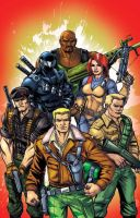 G.I.Joe 80's classic team shot by Dan-the-artguy